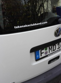 The Takanaka Club Band Car Sticker small